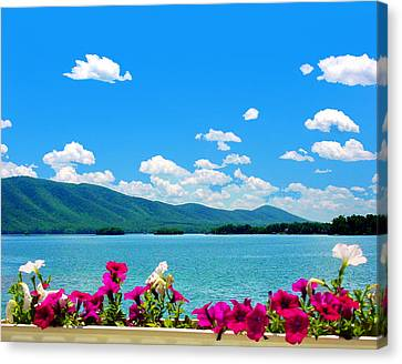 Smith Mountain Lake Grand View Canvas Print by The American Shutterbug Society