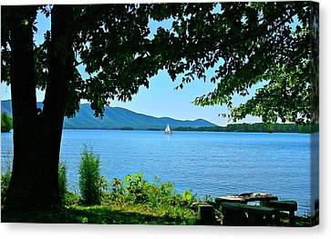 Smith Mountain Lake Sailor Canvas Print by The American Shutterbug Society