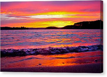 Smith Mountain Lake Surreal Sunset Canvas Print by The American Shutterbug Society