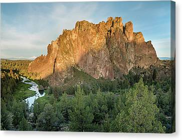 Smith Rock First Light Canvas Print by Greg Nyquist