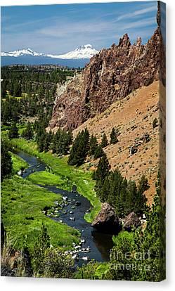 Mountain Canvas Print - Smith Rock Oregon by David Millenheft