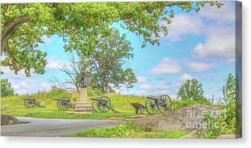 Smiths Battery Devils Den Gettysburg Canvas Print by Randy Steele