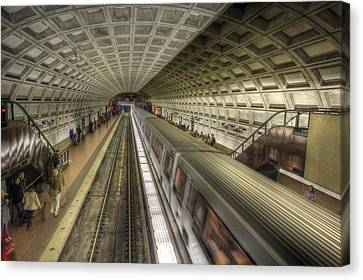 Smithsonian Metro Station Canvas Print by Shelley Neff