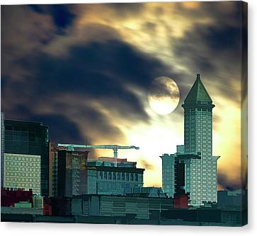 Canvas Print featuring the photograph Smithtower Moon by Dale Stillman