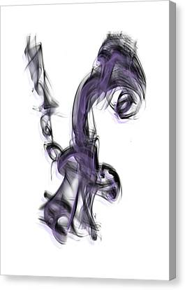 Smoke 01 Purple Canvas Print
