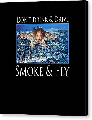 Canvas Print featuring the painting Smoke And Fly by Tom Roderick