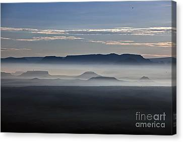 Canvas Print featuring the photograph Smoke From Wildfires After Sunrise In The Verde Valley by Ron Chilston