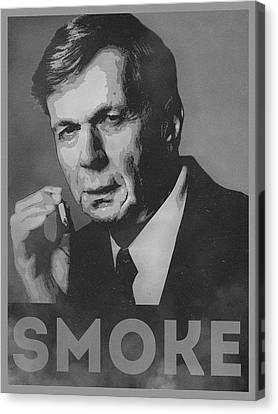 Believe Canvas Print - Smoke Funny Obama Hope Parody Smoking Man by Philipp Rietz