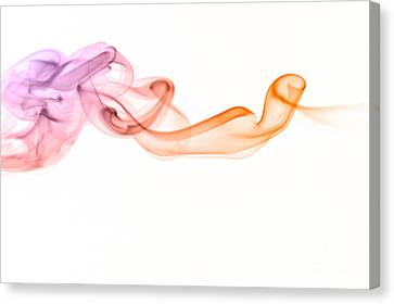 Canvas Print featuring the photograph smoke IV by Joerg Lingnau