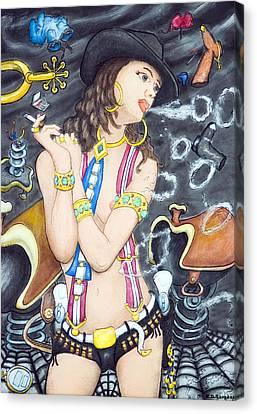 smoke N O's Canvas Print by Eddie Sargent
