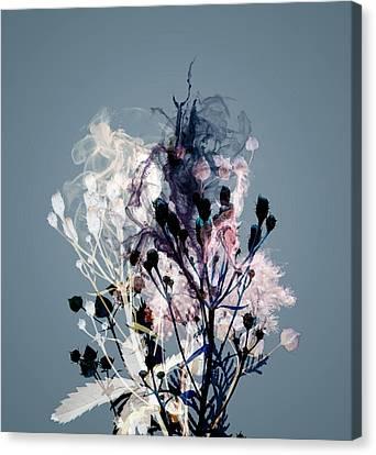 Smoke Without Fire V Canvas Print by Varpu Kronholm