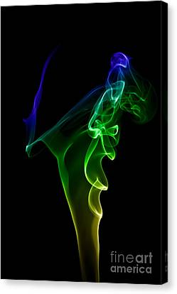 Canvas Print featuring the photograph smoke XIV by Joerg Lingnau
