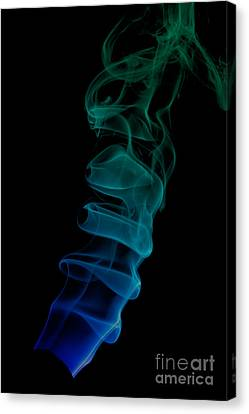 Canvas Print featuring the photograph smoke XIX ex by Joerg Lingnau