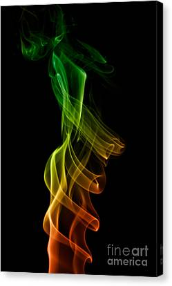 Canvas Print featuring the photograph smoke XXII by Joerg Lingnau