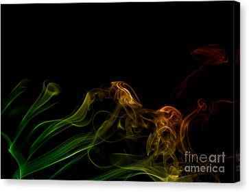 Canvas Print featuring the photograph smoke XXXI by Joerg Lingnau