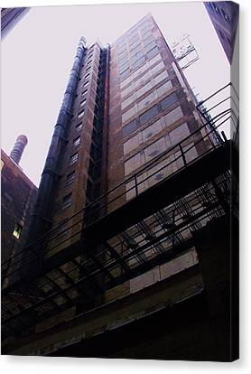 Smokestack And Fire Escape II Canvas Print