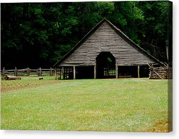 Smokey Mountain Barn Canvas Print by Kimberly Camacho