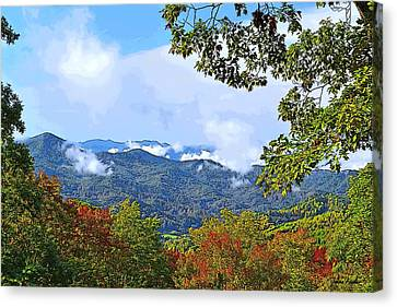 Smokey Mountain Drive Canvas Print - Smokey Mountain Mountain Landscape - A by James Fowler