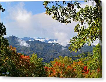 Smokey Mountain Drive Canvas Print - Smokey Mountain Mountain Landscape by James Fowler