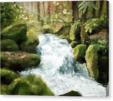 Smokey Mountain Waterfall Canvas Print