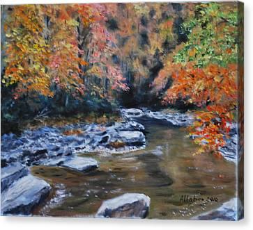 Smokey Mountains Autumn Canvas Print by Stanton D Allaben