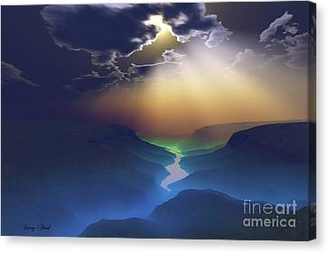 Sun Rays Canvas Print - Smokey Valley by Corey Ford