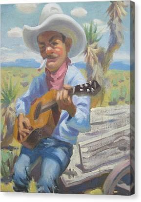 Smokin Guitar Man Canvas Print by Texas Tim Webb
