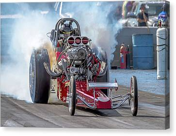 Drag Racing Canvas Print - Smokin' Tires by Bill Gallagher