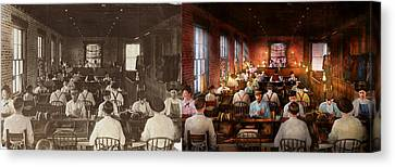 Canvas Print - Smoking - Cigar - Hand Rolled Cigars 1909 - Side By Side by Mike Savad