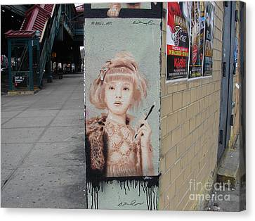 Canvas Print featuring the photograph Smoking Girl  by Cole Thompson