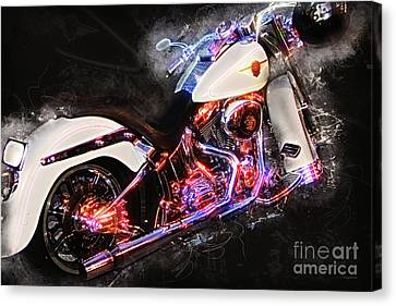 Smoking Hot Hog Harley Davidson 20161102 Canvas Print by Wingsdomain Art and Photography