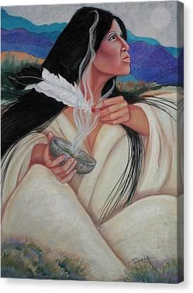 Smoking The Sage Canvas Print