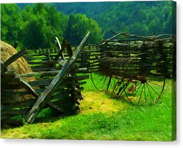 Smoky Mountain Farm 1900s Canvas Print by Chris Flees