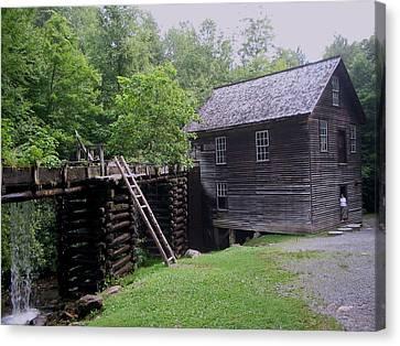 Smoky Mountain Mill Canvas Print by CGHepburn Scenic Photos