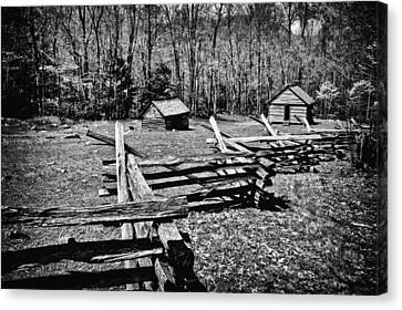 Mountain Cabin Canvas Print - Smoky Mountain Pasture  by Paul W Faust -  Impressions of Light