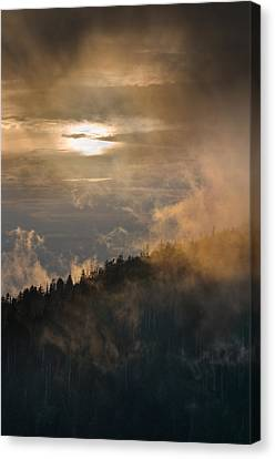 Smoky Mountain Canvas Print by Steve Gadomski