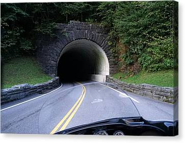 Smoky Mountain Tunnel Canvas Print by Laurie Perry