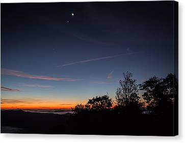 Smoky Mountains Sunrise Sky Canvas Print by John Haldane