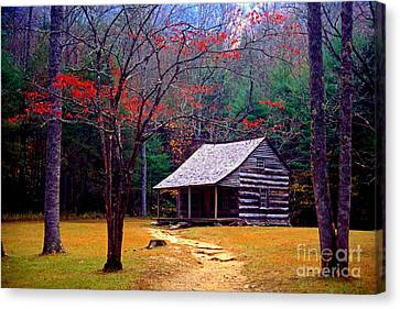 Paul Faust Canvas Print - Smoky Mtn. Cabin by Paul W Faust -  Impressions of Light