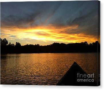 Smoldery Sunset Canvas Print