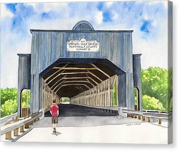 Smolen-gulf Bridge Canvas Print