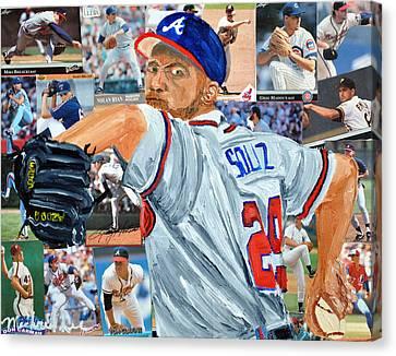 Smoltz Canvas Print by Michael Lee
