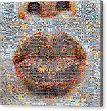 Smooch Canvas Print by Boy Sees Hearts