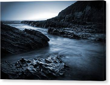Smooth And Jagged Canvas Print by Matt  Trimble
