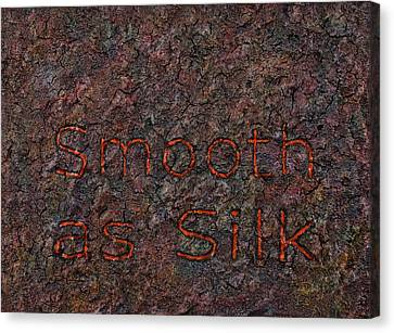 Smooth As Silk Canvas Print by James W Johnson