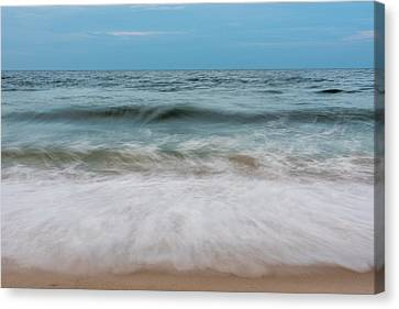 Smooth Blue Wave Seaside Nj Canvas Print by Terry DeLuco