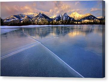 Canvas Print featuring the photograph Smooth Ice by Dan Jurak