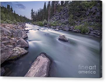 Smooth Rapids Of Deschutes River Canvas Print by Twenty Two North Photography