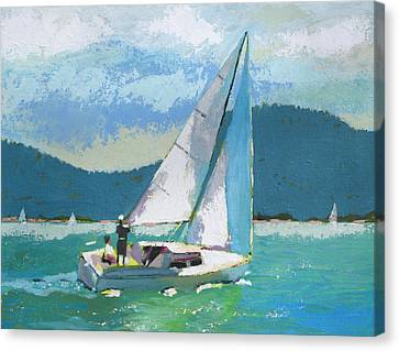 Smooth Sailing Canvas Print by Robert Bissett