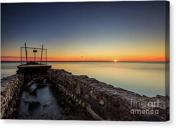 Smooth Sunrise Sparkle Canvas Print by Andrew Slater